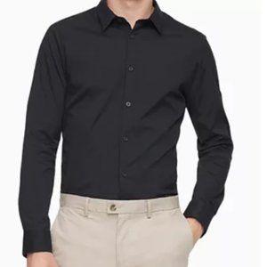 Calvin Klein Men's Black Modern Regular Fit Dress